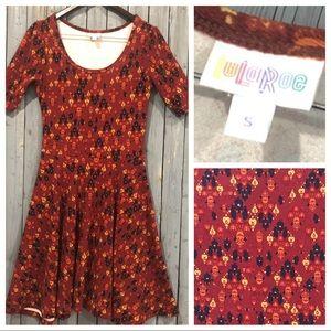 LuLaRoe Dress Multi Color Simply Comfortable Dress